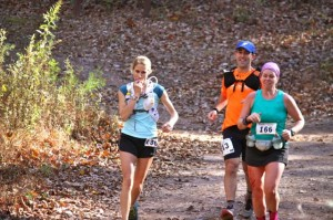 MacKenzie Spradlin  | PHDC Amy Brockey, left, and Megan Hamilton approach the midway point still side by side on Sunday at the fifth annual Fire on the Mountain 50K.