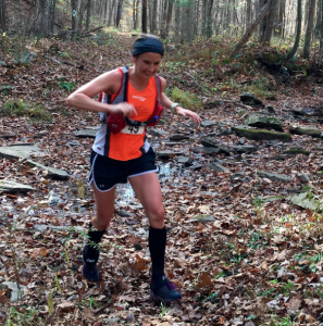 Photo by Michele Jacoby Overall winnr Michelle Benshoff showed grit and determination by posting the fourth-fastest time by a female FOTM finisher in the race's six-year history. She did much of it alone.
